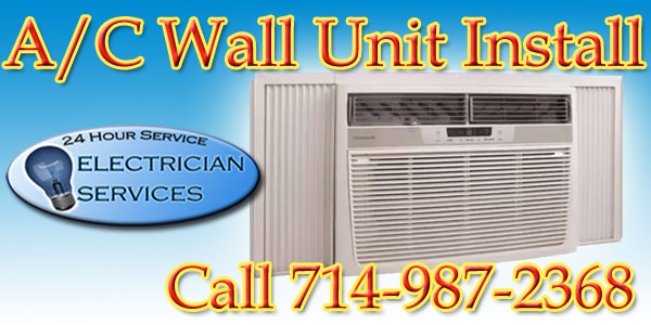 install a dedicated circuit for a A/C wall unit