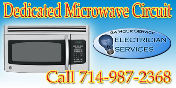 Install a dedicated circuit for a microwave